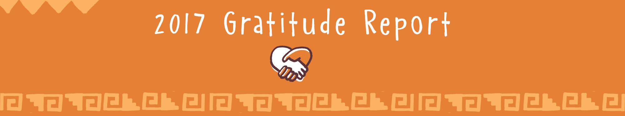 2017 Gratitude Report Banner